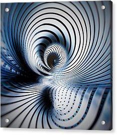 Interlock Blue  Acrylic Print