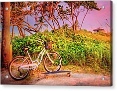 Acrylic Print featuring the photograph Time For Beach Fun by Debra and Dave Vanderlaan