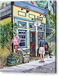 Acrylic Print featuring the painting Time For Coffee by Margit Sampogna
