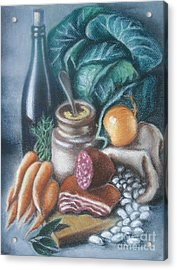 Acrylic Print featuring the painting Time For Soup by Inese Poga
