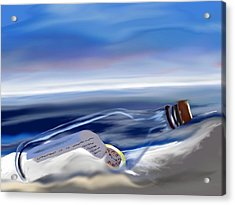 Time In A Bottle Acrylic Print