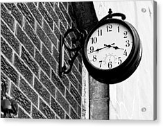 Time In Black And White Acrylic Print by Michelle Shockley