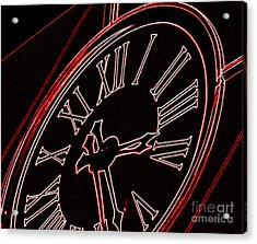 Time In Red And Black Acrylic Print