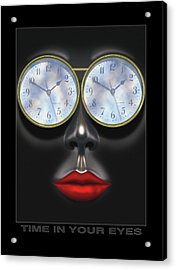 Time In Your Eyes Acrylic Print by Mike McGlothlen