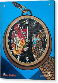 Time Is Running Out And I Am Running Scared Acrylic Print by Deidre Firestone