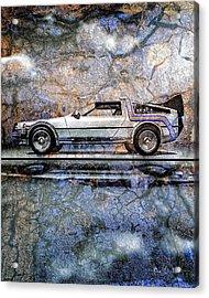 Time Machine Or The Retrofitted Delorean Dmc-12 Acrylic Print by Bob Orsillo