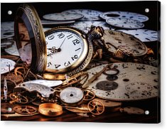 Time Machine Still Life Acrylic Print by Tom Mc Nemar