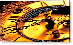Time Management Acrylic Print by David  Norman