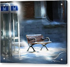 Time Passages - Call Waiting Acrylic Print by Bob Salo