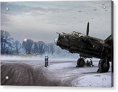 Acrylic Print featuring the photograph Time To Go - Lancasters On Dispersal by Gary Eason