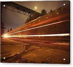 Time Train Acrylic Print by Benjamin Garvey