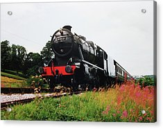 Acrylic Print featuring the photograph Time Travel By Steam by Martin Howard