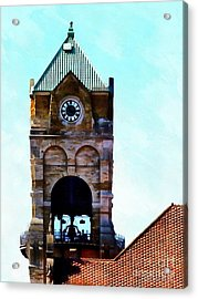 Acrylic Print featuring the photograph Time Will Tell - Scranton by Janine Riley