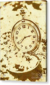 Time Worn Vintage Pocket Watch Acrylic Print