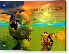 Acrylic Print featuring the digital art Time.......is Running Out by Shadowlea Is