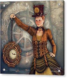 Acrylic Print featuring the digital art Timekeeper by Jutta Maria Pusl