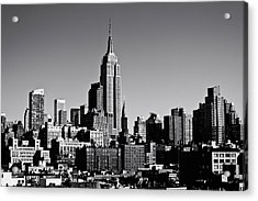 Timeless - The Empire State Building And The New York City Skyline Acrylic Print by Vivienne Gucwa
