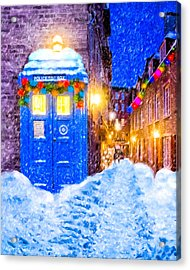 Timeless British Christmas Acrylic Print