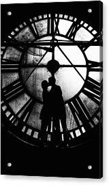 Acrylic Print featuring the photograph Timeless Love - Black And White by Marianna Mills