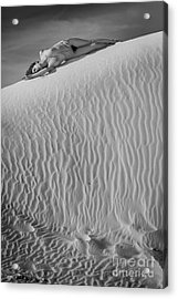 Timeless Sand Acrylic Print by Inge Johnsson