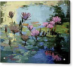 Times Between - Water Lilies Acrylic Print