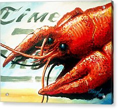 Times Picayune Crawfish Acrylic Print by Terry J Marks Sr