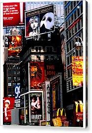 Times Sq Nyc Acrylic Print