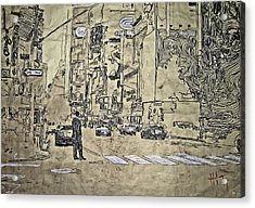 Times Square - That Man Acrylic Print by Jacob  Hitt