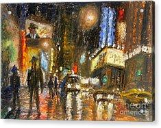 Times Square 2 Acrylic Print by Arthur Robins