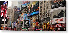 Times Square 4 Acrylic Print by Andrew Fare