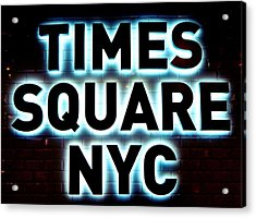Times Square 4 Acrylic Print by NDM Digital Art