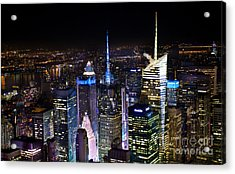 Times Square After Dark Acrylic Print by Ken Andersen