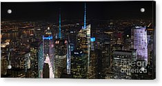 Times Square At Night From The Empire State Building Acrylic Print