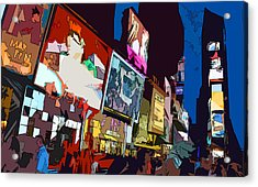 Times Square Acrylic Print by Christopher Woods