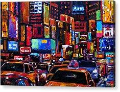 Times Square Acrylic Print by Debra Hurd