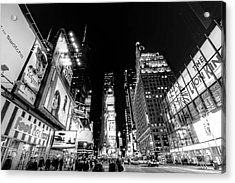 Times Square Don't Shine As Bright As You Acrylic Print by Ariane Moshayedi