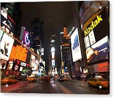 Times Square Acrylic Print by John Gusky