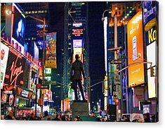 Times Square Acrylic Print by June Marie Sobrito