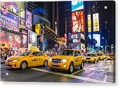 Times Square Acrylic Print by Kobby Dagan
