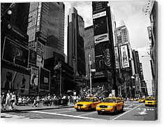 Times Square Acrylic Print by Mandy Wiltse