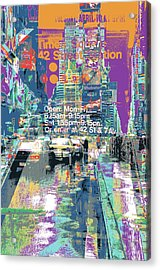 Times Square Morphine Acrylic Print by Shay Culligan