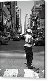 Times Square, New York City  -27854-bw Acrylic Print