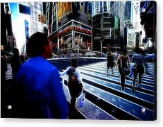 Times Square New York City Acrylic Print by Lawrence Christopher