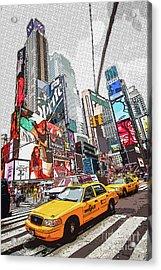 Times Square Pop Art Acrylic Print