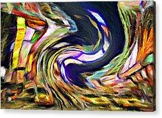 Times Square Swirl Acrylic Print