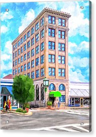 Acrylic Print featuring the mixed media Timmerman Building - Andalusia - First National Bank by Mark Tisdale