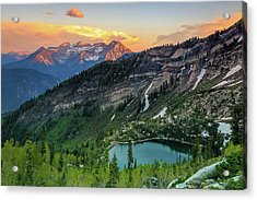 Timpanogos And Silver Lake. Acrylic Print