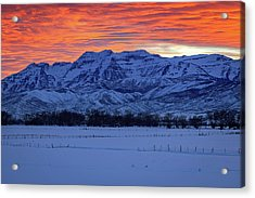 Timpanogos Burner Acrylic Print by Johnny Adolphson