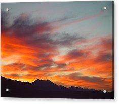 Timponogos Sunrise Acrylic Print by Derek Nielsen