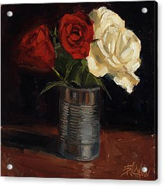 Acrylic Print featuring the painting Tin Can Love by Billie Colson
